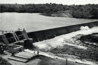 Hydroelectric dam in Congo