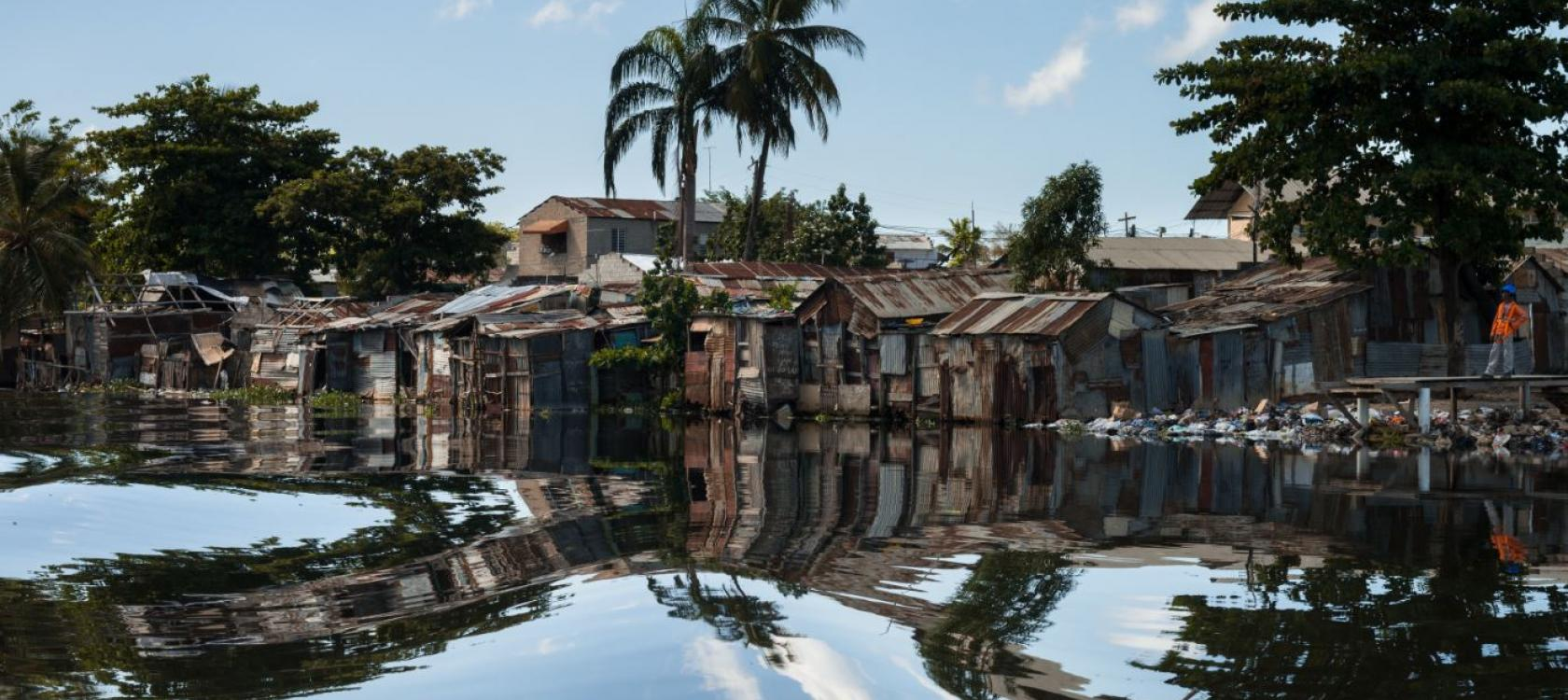 La Barquita, flooded district, Dominican Republic, Petit