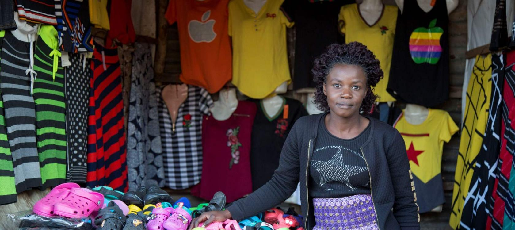Denia Tembo, shop owner, Zambia, digital, JUMO project