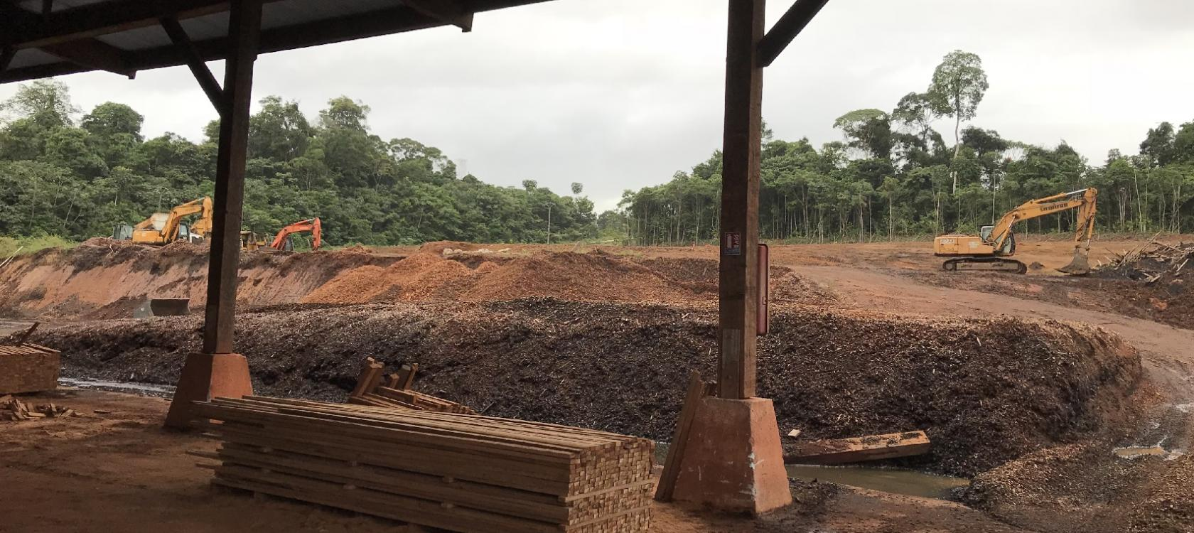 wood residues sawmill site factory guyana land