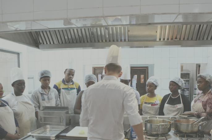 Mali, hospitality training college, kitchens