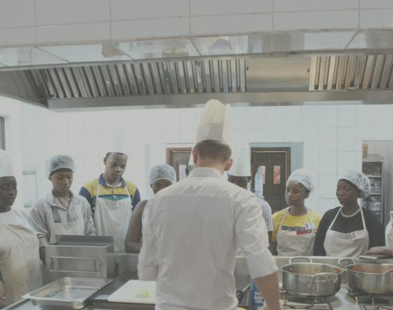 Mali, école hôtelière, cuisines