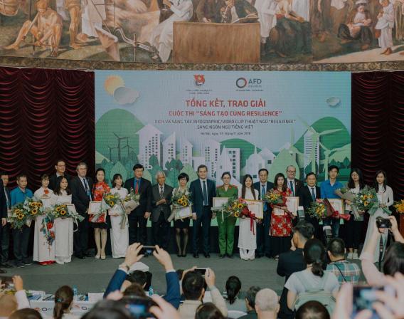 concours résilience, Vietnam, jeune, remise des prix
