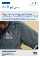 Ex Post Written and Audiovisual Evaluation of the Limpopo National Park Development Project