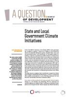state local government climate initiatives