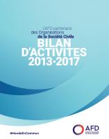 Bilan d'activités OSC 2013-2017 couverture