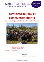 Etudes sur l'eau et les communs en Bolivie
