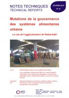 Etude sur les mutation de la gouvernance des systèmes alimentaires urbains à Rabat