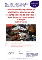 Etude sur la contribution des systèmes de distribution alimentaire à la sécurité alimentaire des villes en RCI