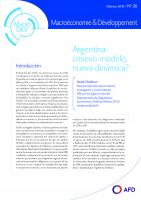 Argentina. Nuevo modelo, nueva dinámica_couv