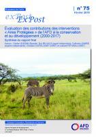 Evaluation ex post - Aires protégées - 2000 à 2017_couv