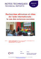 Couverture d'une étude sur les recherches africaines et rôle de l'aide internationale