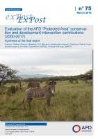 "Evaluation of the AFD ""Protected Area"" conservation and development projects_couv"