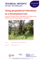 Study on geographical indications as a development tool