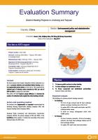 Evaluation Summary - District Heating Projects in Jinzhong and Taiyuan