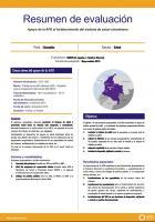 Resumen de evaluación - Apoyo de la AFD al fortalecimiento del sistema de salud colombiano