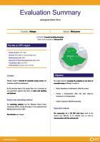 Evaluation Summary - Ashegoda Wind Farm