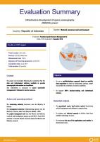 Evaluation Summary - Infrastructure development of space oceanography (INDESO) project
