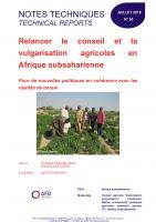 Couverture étude sur le conseil agricole en Afrique subsaharienne