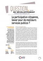 Participation - citoyenne - levier - services publics