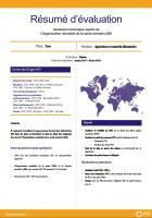 Résumé d'évaluation - Assistance technique auprès de l'Organisation mondiale de la santé animale (OIE)
