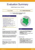 Résumé d'évaluation - Programme SUNREF au Kenya - 2010-2017