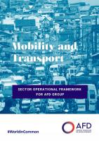 Mobility and Transport - AFD Group Sector Operational Framework