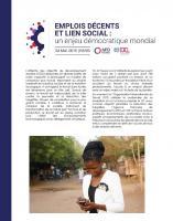 Actes de la conférence « Emplois décents et lien social : un enjeu démocratique mondial »
