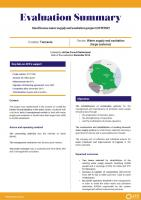 Evaluation Summary - Small towns water supply and sanitation project (STWSSP), Tanzania