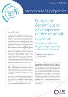Émergence économique et développement durable et inclusif du Maroc_couv