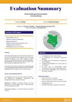 Evaluation Summary - Rural roads improvement project in Central Kenya
