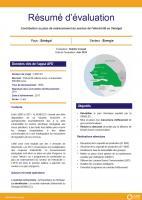 Résumé d'évaluation - Contribution au plan de redressement du secteur de l'électricité au Sénégal