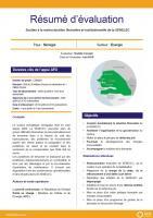 Résumé d'évaluation - Soutien à la restructuration financière et institutionnelle de la SENELEC, Sénégal