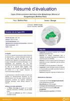 Résumé d'évaluation - Ligne d'interconnexion électrique entre Bolgatanga (Ghana) et Ouagadougou (Burkina Faso)