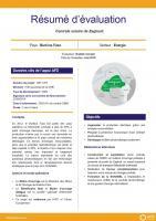 Résumé d'évaluation - Centrale solaire de Zagtouli, Burkina Faso