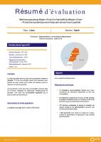 Résumé d'évaluation - Résilience sociale au Moyen-Orient : protection sociale de proximité au sein de neuf municipalités, CZZ2109
