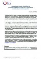 Ressources pour la gestion de la crise liée au Coronavirus Covid-19 dans le secteur eau et assainissement