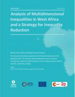 Analysis of Multidimensional Inequalities in West Africa and a Strategy for Inequality Reduction