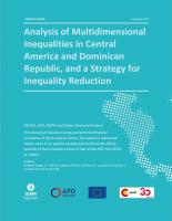 Analysis of Multidimensional Inequalities in Central America and Dominican Republic, and a Strategy for Inequality Reduction