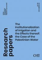 Institutionalization of Irrigation in Palestine_couv