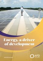 Energy, a driver of development