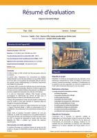 Résumé d'évaluation - Projet urgence électricité Mopti, Mali