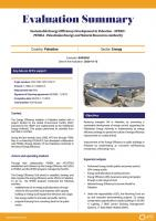 Evaluation Summary - Sustainable Energy Efficiency Development in Palestine – SPEED project
