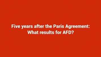 Five years after the Paris Agreement: What results for AFD?