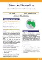 Résumé d'évaluation - Programme d'appui aux communautés villageoises (PACV2-PACV3), Guinée