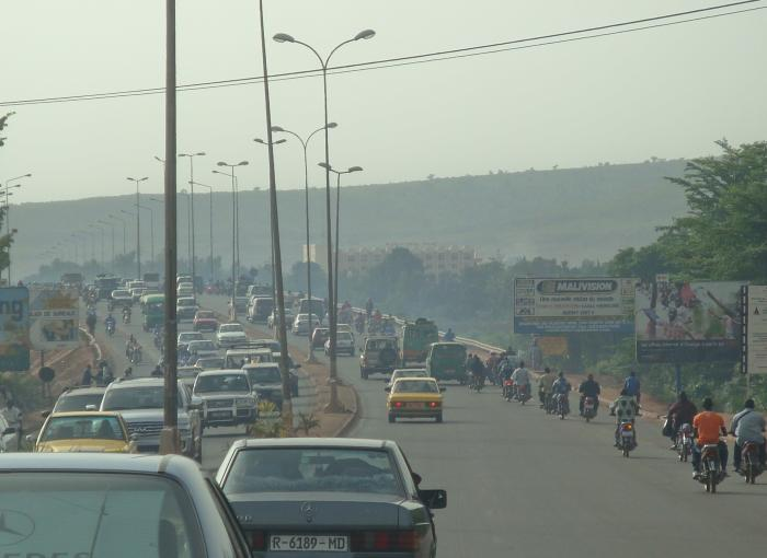 Bamako, pollution, route, ville, Mali