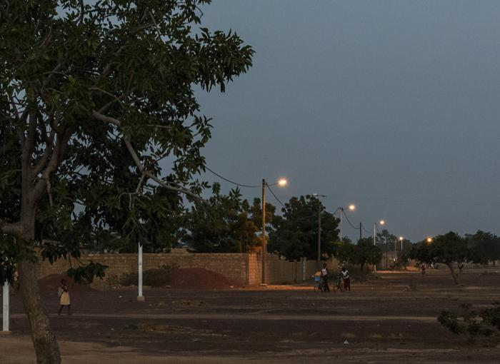Zagtouli Power Station, Burkina Faso, Night lights