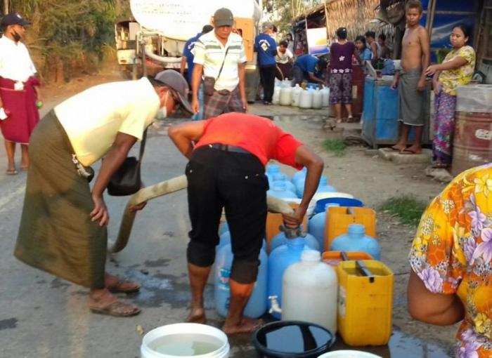 Myanmar water in times of deprivation