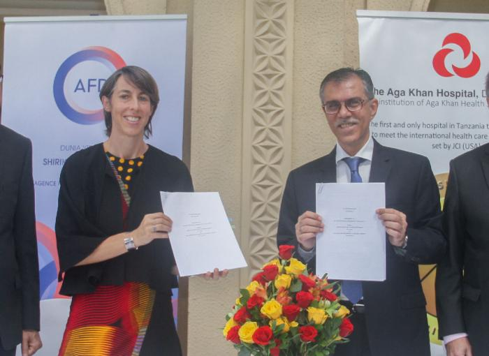 Aga Khan Health Service, Tanzania and agence francaise de developpement (afd)  sign an agreement to establish an infectious disease unit in Dar es Salaam and Mwanza