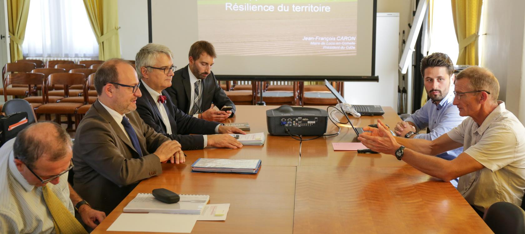 local authorities, territories, meeting Rémy Rioux Jean-François Caron